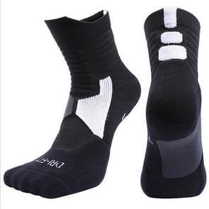 Outdoor Sport Professional Cycling Socks Basketball Soccer Football Running Hiking Socks, Size:S(Black)