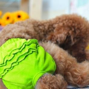 Huisdier hond panty korte sanitaire broek kleding huisdier benodigdheden  grootte: S (groen)