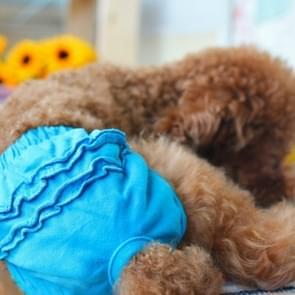 Huisdier hond panty korte sanitaire broek kleding huisdier benodigdheden  grootte: M (blauw)