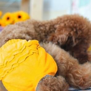 Huisdier hond panty korte sanitaire broek kleding huisdier benodigdheden  grootte: L (geel)