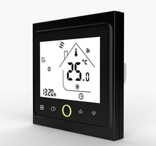 BHT-002GB WiFi Thermostat Temperature Controller LCD Touch Screen Backlight for Water Floor Heating Works with Alexa Google Home 3A(Black)