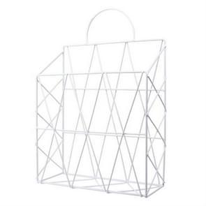 Nordic Style Magazine Holder File Book Rack Desktop Hanging Shelf(White)