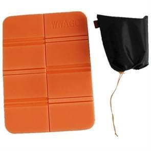 XPE map Camping mat vouwen draagbare kleine kussen vocht-proof waterdicht te voorkomen vuile picknick mat strand pad (oranje)
