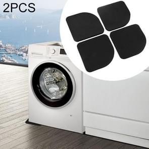 2 PCS 4 in 1 case Washing Machine Anti Vibration Pad Shock Proof Non Slip