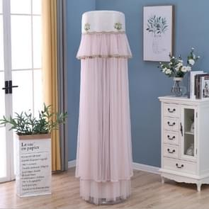 Lace Vertical Round Column Air Conditioner Dust Cover, Size:180cm(Pink)