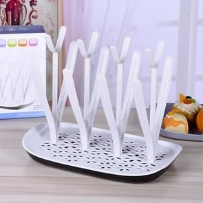 Baby Bottle Drying Rack Baby Feeding Bottles Cleaning Drying Rack Storage Nipple Shelf Baby Pacifier Feeding Cup Holder(White)