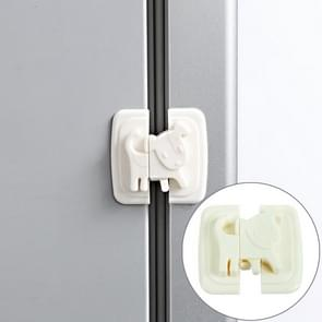 Multi-function ABS Cartoon Refrigerator Drawer Door baby Safety Protection Lock, color:White
