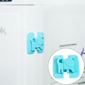 Multi-function ABS Cartoon Refrigerator Drawer Door baby Safety Protection Lock, color:Blue
