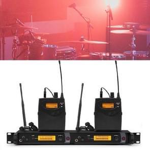 Professionele wireless stage ear return monitor zanger in-ear dual channel oor terug  specificatie: 2 taille tas pak