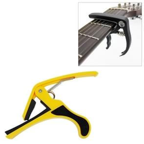 Plastic Guitar Capo for 6 String Acoustic Classic Electric Guitarra Tuning Clamp Musical Instrument Accessories(Yellow)