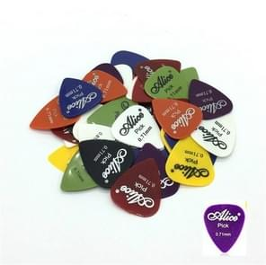 Alice 50 PCS ABS Electric Guitar Picks, Random Color Delivery, Surface:Frosted, Size:0.71mm