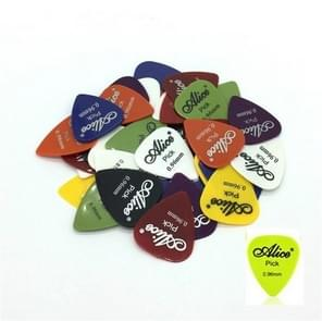 Alice 50 PCS ABS Electric Guitar Picks, Random Color Delivery, Surface:Frosted, Size:0.96mm