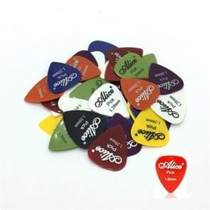 Alice 50 PCS ABS Electric Guitar Picks, Random Color Delivery, Surface:Frosted, Size:1.2mm