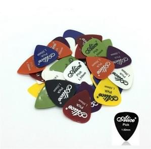 Alice 50 PCS ABS Electric Guitar Picks, Random Color Delivery, Surface:Frosted, Size:1.5mm