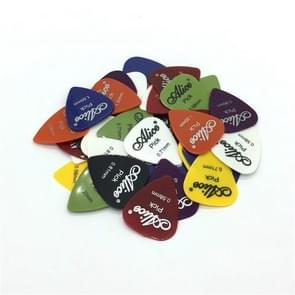Alice 50 PCS ABS Electric Guitar Picks, Random Color Delivery, Surface:Mirror, Size:0.58mm, 0.71mm, 0.81mm Mixing