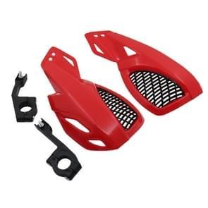 24CM Motorcycle Handguard Hand Guard Protector for Kawasaki Suzuki Honda Yamaha Moto Dirt Bike ATVS With Mount Kit(Red)