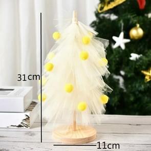 Kerstboom Rok Desktop Ornaments Gaas Pine Party Decoraties (Geel)