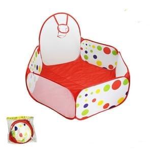 Folding Portable Baby Polka Dot Hexagon Indoor Ball Pool Game Fence 0.9 m in Diameter