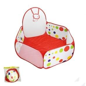Opvouwbare baby polka dot zeshoek indoor bal zwembad spel hek 1 2 m in diameter