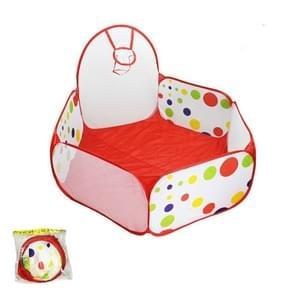 Folding Portable Baby Polka Dot Hexagon Indoor Ball Pool Game Fence 1.5 m in Diameter
