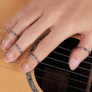 Metal Spring Ring Pick for Guitar(Silver)