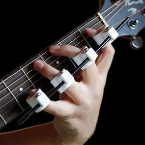 Vier vingers vinger Expander gitaar ukulele piano span praktijk vinger cover, specificatie: kinderen editie (wit)
