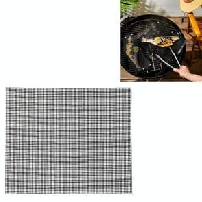 3 PCS Non-Stick Grid Sheet Teflon Barbecue Mat Grill Grid Mat  Grootte:30x40 cm(Zwart)