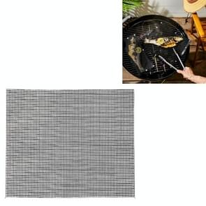 3 PCS Non-Stick Grid Sheet Teflon Barbecue Mat Grill Grid Mat  Grootte:33x40 cm(Zwart)