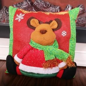 2 PCS Christmas Home Decoration Cartoon Stereo Doll Pillowcase Zonder Pillow Core (Elanden)