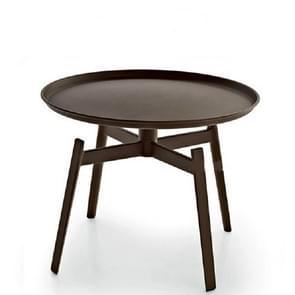 Round Tea Tray Table Iron Stoving Varnish Living Room Bedroom Corner Sofa Side Simple Round Coffee Table(Black S)