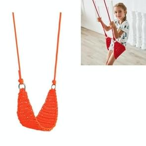 Rope Net Kids Toys Kinderen Outdoor Swing Baby Home Garden Garden Swing (Oranje)