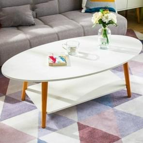 Cafe Tables Cafe Furniture Solid Wood Oval Coffee Table Sofa Side Table Assembly Desk(Warm White 120x60x42cm)