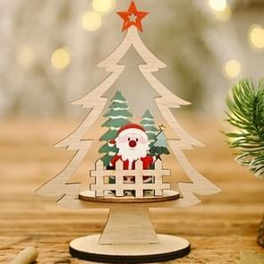 6 PCS kerstversiering Festival levert houten diy kerstboom decoratie desktop decoratie (ouderen)