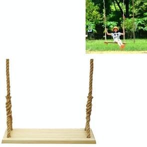 Outdoor Swing Indoor Balkon Kinderen Volwassen Massief Hout Swing  Stijl: Hennep Rope (60x18 cm)