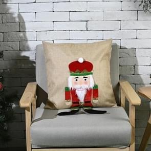 Kerstversiering Walnut Soldier Pillowcase Home Furnishing Pillowcase  Zonder Pillow Core (Rood)