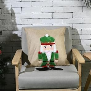 Kerstversiering Walnut Soldier Pillowcase Home Furnishing Pillowcase  Zonder Pillow Core (Groen)