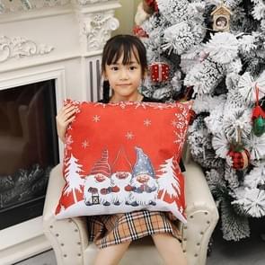 2 PCS kerstversiering Forester Sofa Backrest Cover Kerst kussensloop zonder pillow core (Rood)