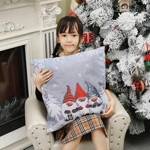 2 PCS kerstversiering Forester Sofa Backrest Cover Kerst kussensloop zonder pillow core (Grijs)