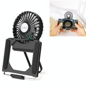 CHOZONSS P30 Multi-function Fan Portable Handheld Cooling Stand Mobile Phone Radiator (Zwart)