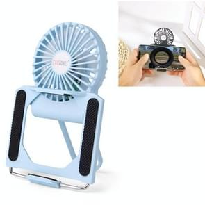 CHOZONSS P30 Multi-function Fan Portable Handheld Cooling Stand Mobile Phone Radiator (Lichtblauw)