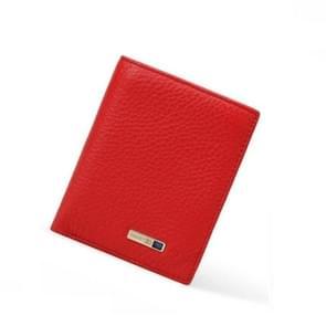 Verticale portemonnee Smart Bluetooth Anti-Lost Anti-Theft lederen tas  stijl: Smart (Rood)