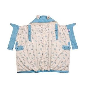Waterdichte warme Baby Carrier vacht cover Cape mantel baby rugzak cover (blauw)