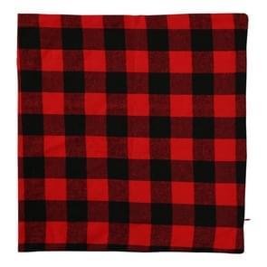 4 PCS Kerst ornament geruite doek kussensloop  zonder pillow core (Zwart rood)