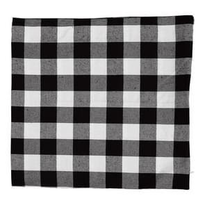 4 PCS Kerst ornament geruite doek kussensloop  zonder pillow core (zwart wit)