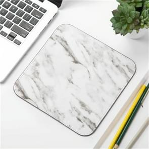 Office Desk Mat Marble Pattern Desk Organizer School Supplies Mouse Desk Tools(Grey White)