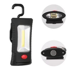 2 stks multi-functionele buitenverlichting werk licht CREE 3 LEDs + COB licht zaklamp met haak