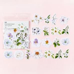 Journal Decoracion Cute Diary Flower Stickers Scrapbooking Flakes (Green + White)