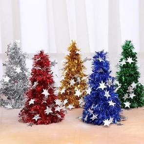 6 PCS Mini Desktop Christmas Tree Hotel Shopping Mall kerstversiering  stijl: met vijfpuntige ster (zilver)