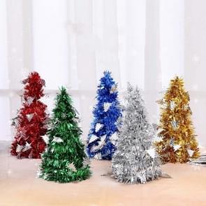 6 PCS Mini Desktop Kerstboom Hotel Shopping Mall kerstversiering  stijl: met kleine boom (blauw)