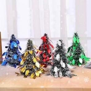 6 PCS Mini Desktop Christmas Tree Hotel Shopping Mall kerstversiering  stijl: bladeren (groen)